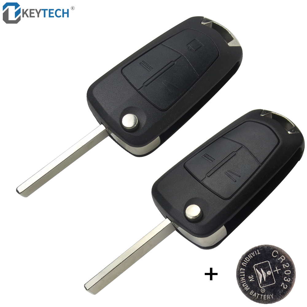 OkeyTech Flip Remote Folding Car Key Cover Fob Case Shell Styling Case 2 Buttons For Vauxhall Opel Corsa Astra Vectra Signum