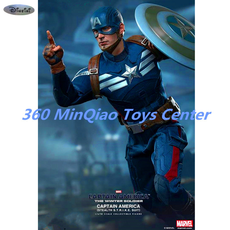 Statue Avengers Captain America 1:6 Winter Warrior MMS242 New War Clothing Version Single Version Stealth Version RETAIL BOX цена