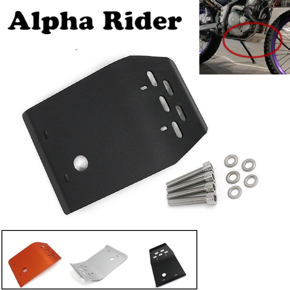 Protection moteur moto Protection couvercle plaque de Protection W/vis pour Yamaha Serow XT250 Tricker XG250 XT250X XT XG 250 argent noir