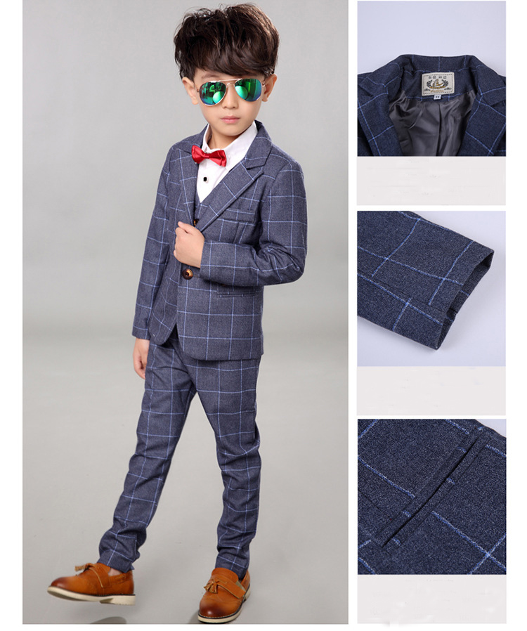 Marke Kinder Anzug Baby Jungen Schulanzüge Kinder Blazer Formelle - Kinderkleidung - Foto 5