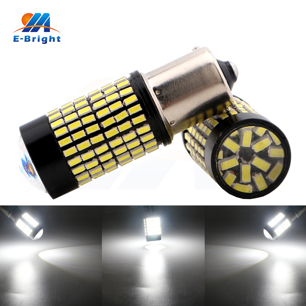 2pcs 3014 144 SMD Led Bulbs 1156 BA15S BAU15S Led Backup Tail Turn Signal Corner Parking Brake Stop Lights 9-30V Free Shipping