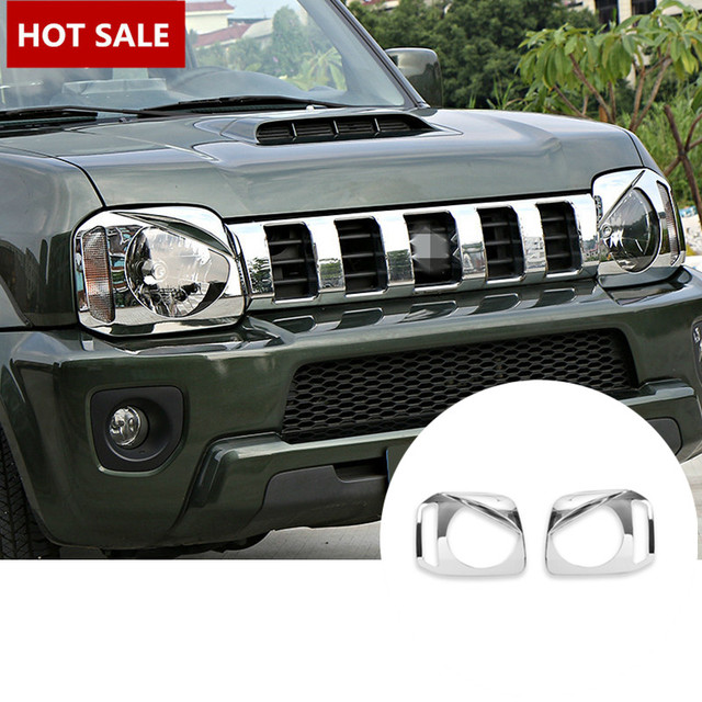 ABS Chrome Bird Style Front Head Light Cover For Suzuki Jimny 2012-2015 2pcs