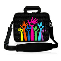 Hands Up 15 15 4 15 6 Neoprene Laptop Carrying Bag Sleeve Case Cover W Side