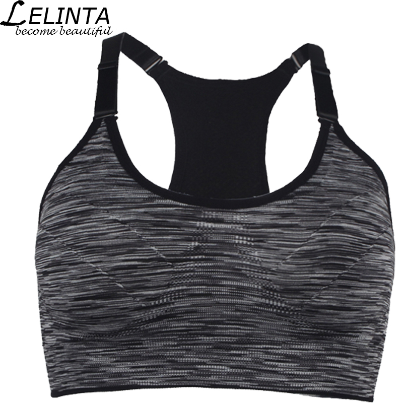 Black/Gray/Purple/Red/Green Women Sports Bra Top Absorver Sweat Yoga Fitness Seamless Cup Bra Padded Push Up Top Vest Size M L fashion viscose vest style dress for women black multicolor size l