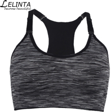 Black Gray Purple Red Green Women Sports Bra Top Absorver Sweat Yoga Fitness Seamless Cup Bra
