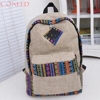 Charming Nice CONEED Best Gift Wholesle Cnvs Backpacks Florl Stripe School Shoulder Bag Trvel Ruckscks Jn20