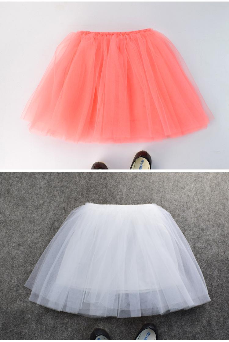 Baby Girls Tutu Skirts Pettiskirt Kids Tulle Skirt Children Underskirt Ballet Dance Petticoat Party Miniskirt Clothes Wholesale (1)
