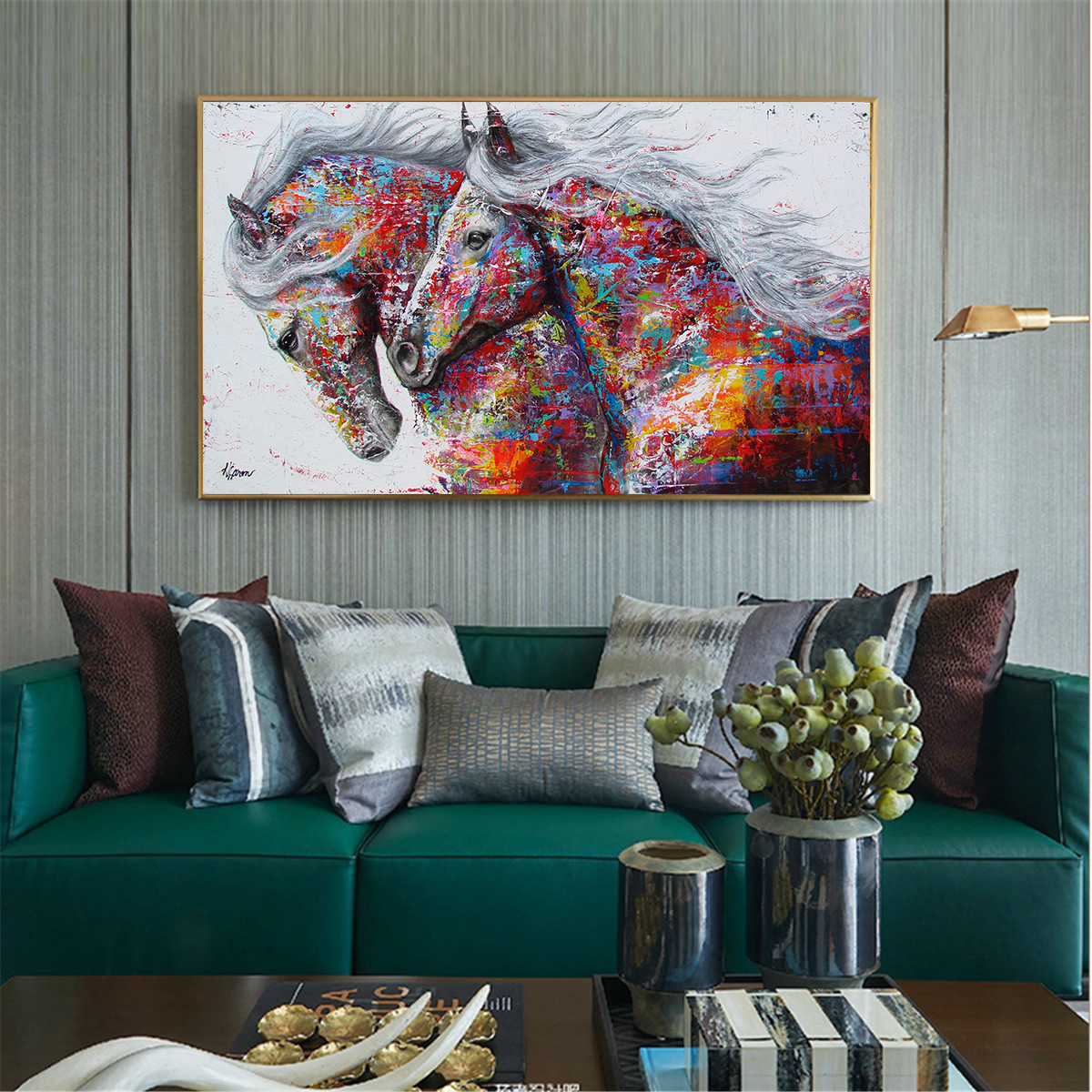 large size nostalgic painting canvas prints wall art craft Poster Nordic About horse decoration for bar cafe quadro