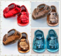 6 Coloes Summer Shine Champagne Golden Silver Tassel Pu Leather Newborn Baby Girls Princess First Walker Sandals Prewalkers