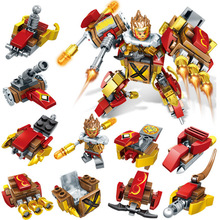 Children Educational Toys DIY Assembled Model Kit Armor Hero Sun Wukong Building Blocks Bricks Kids Gifts Compatible Legoing I52