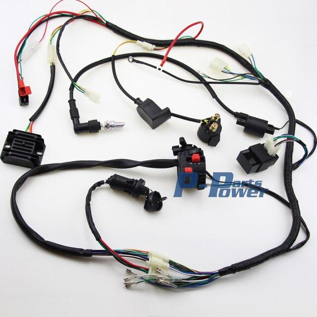 Schema Elettrico Quad Cinese : Completo impianto elettrico atv quad cc bobina