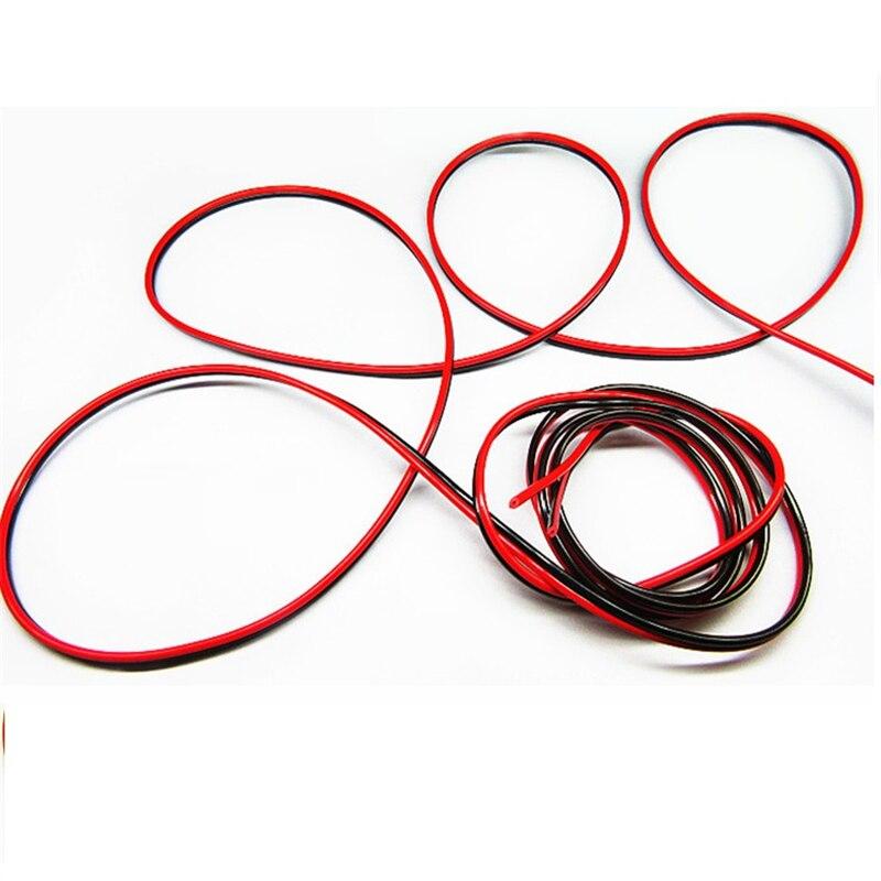 10 м/лот, 22awg провода, 2pin луженая медь, Электрический провод для из светодиодов ленты расширение провода CB-22AWG-RB