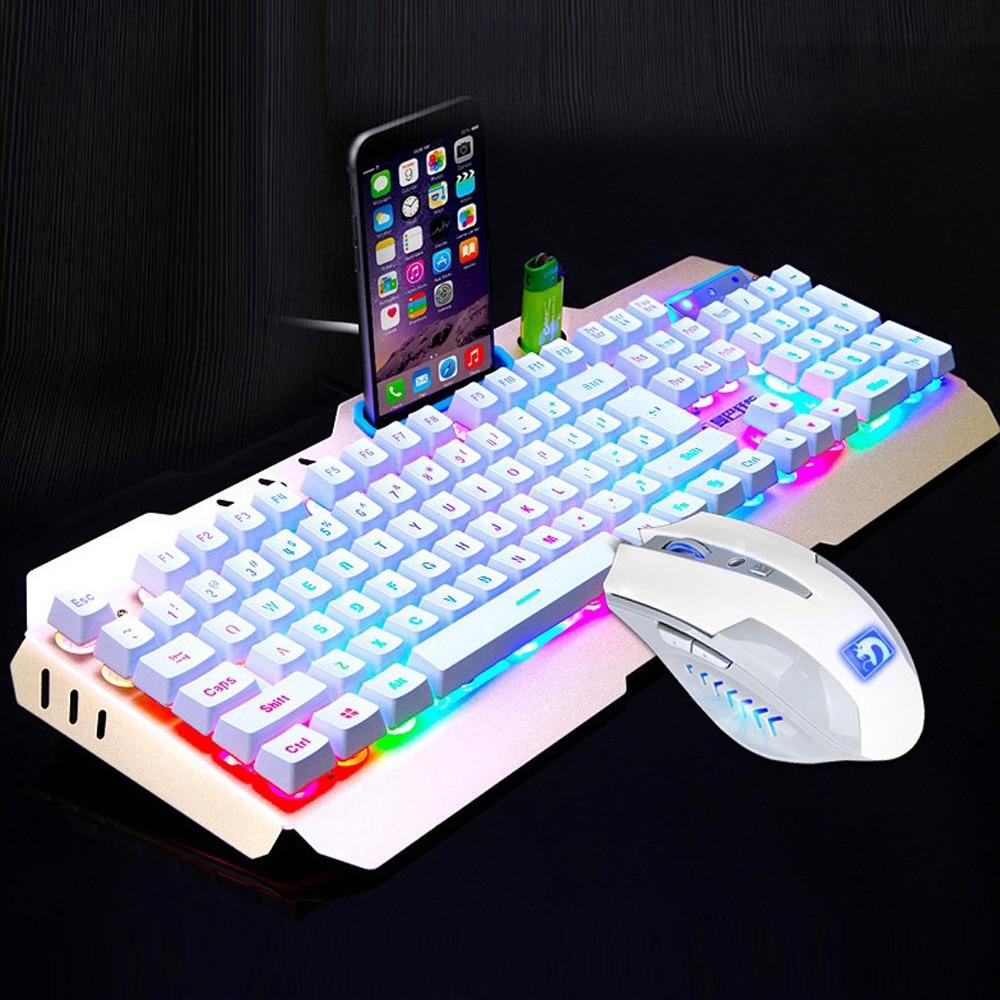 LED Backlit Usb Ergonomic Gaming Keyboard + Gamer Mouse Sets + Mouse