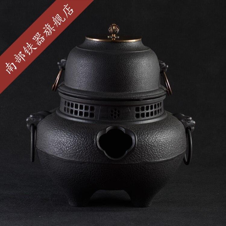 Cast Iron Teapot Set Japanese Tea Pot Tetsubin Kettle Air Furnace Water Heating Tools Carbon Charcoal Stove Drinkware Genuine