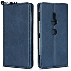 На Алиэкспресс купить чехол для смартфона jaorty case on for coque sony xperia xz2 premium xz2 compact xz2 case cover luxury leather wallet magnet phone flip stand cases
