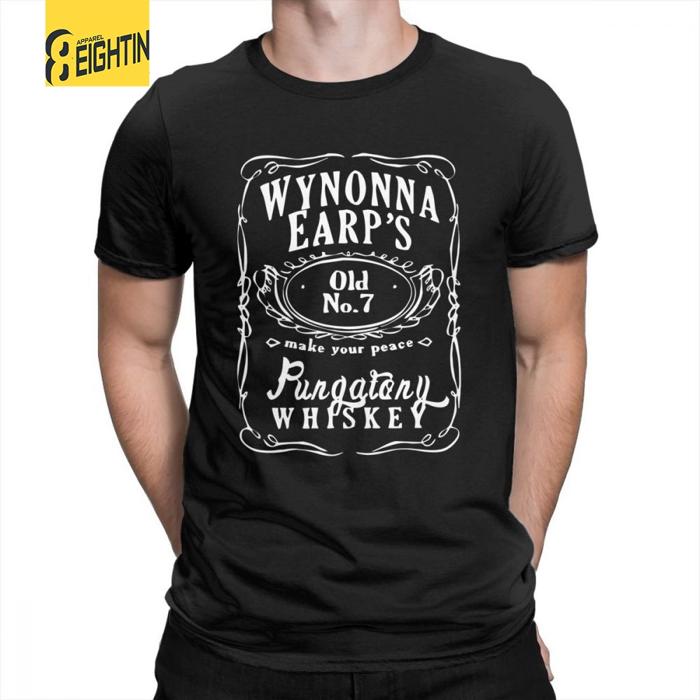 Earp Whiskey Wynonna Earp Tees Purified Cotton Short-Sleeve Vintage T-Shirts Round Collar Cozy Men's T Shirts Large Size Vintage
