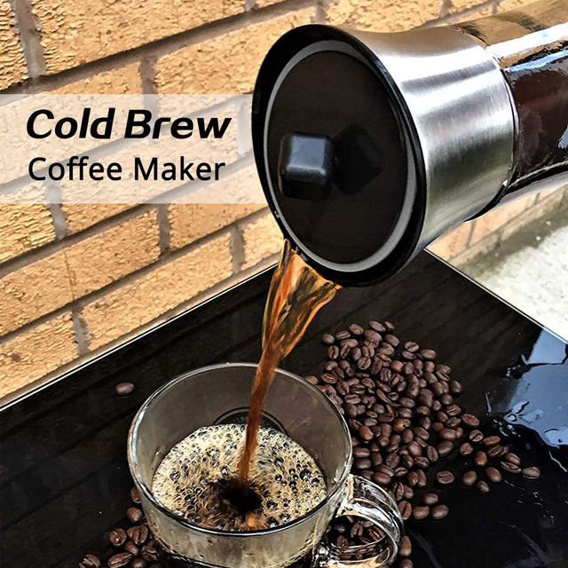 Coffee Maker Pot Mocha Cold Brew Cafetera Filter Coffee Pot Leakproof Thick Glass Tea Infuser Percolator Tool Espresso Maker 5