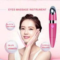 Elektrische Eye massage stok Trillingen Ion huid verstevigende anti-rimpel elimineren zwarte eye zakken schoonheid apparaat USB oplaadbare