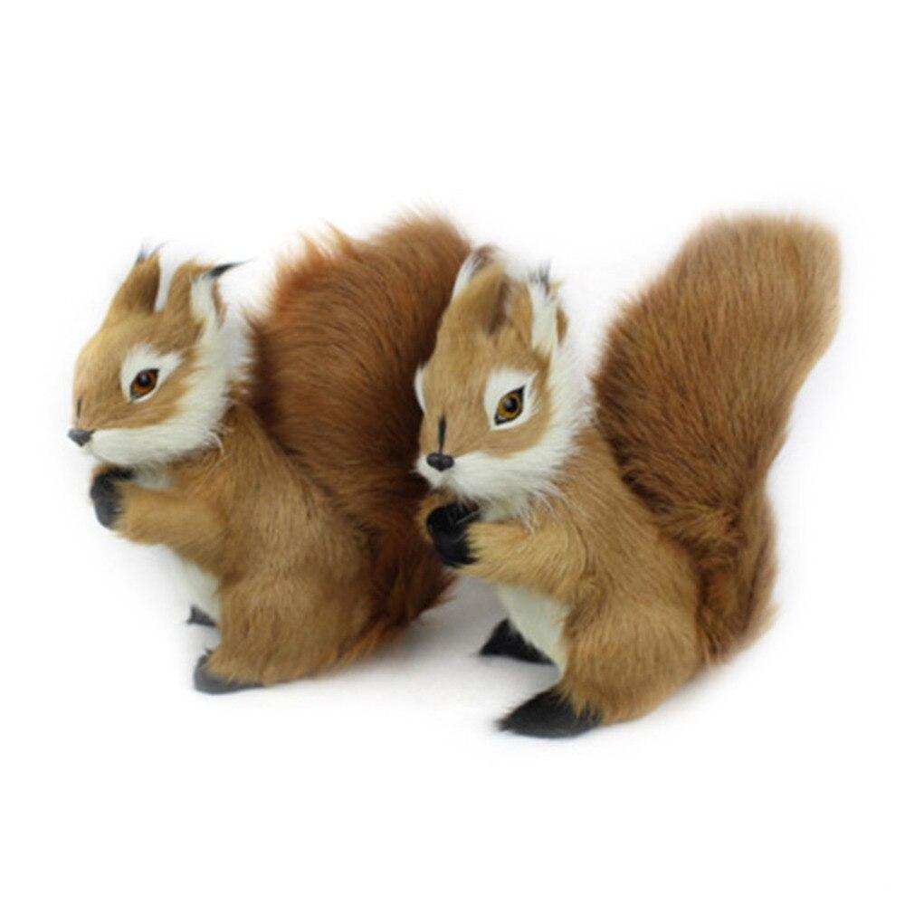 Children Mini Stuffed Toys Simulation Squirrel Stuffed Plush Lovely Toy Animal Kids Toy Decorations Birthday Gift