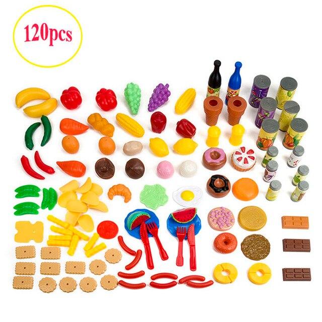 120 Unids Kids Set Miniatura de Cocina Comida Juego de Imaginación ...