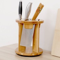 wooden knife stand Multifunctional kitchen knives kitchen accessories shelf tool storage rack knife holder wooden 3