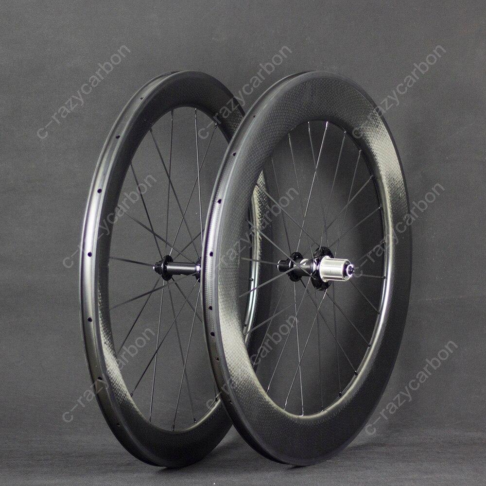 Gratis Verzending Dimple Wielen Aerodynamische Front 58 Achter 80 2 Jaar Garantie Tt Clincher Racefiets Carbon Wiel 700C Road fiets-in Fiets wiel van sport & Entertainment op title=