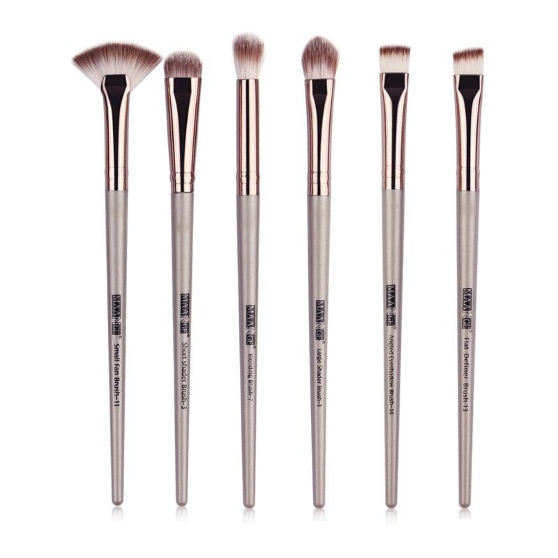6 unids/set brochas maquillaje Pro Set sombra de ojos mezcla delineador de ojos pestañas cejas brocha base para maquillaje brochas maquillaje