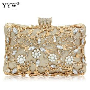 Image 1 - Pochette en cristal pour femmes, pochette de soirées et de mariages, sacs de luxe à bandoulière avec chaîne, sac à bandoulière avec strass