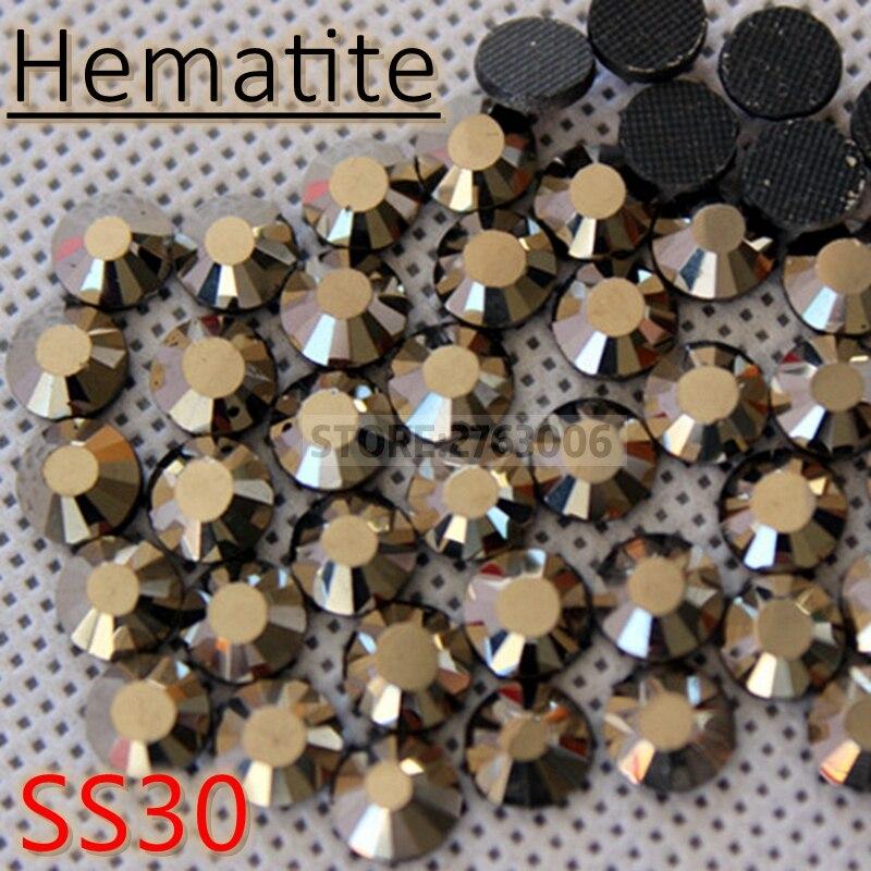 SS30 288pcs Hematite Crystal DMC HotFix FlatBack Rhinestones Crystal For  Dress Iron on Transfer Garment Glass c01ede4fffe7