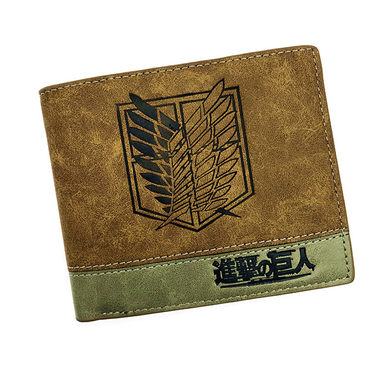 Japanese Anime  Death Note/ Attack on Titan/ One Piece/ Game OW Short Wallet With Coin Pocket Zipper Poucht Billetera