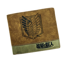 japanese anime poke/ death note/ attack on / one piece/ game ow short wallet with coin pocket zipper poucht billetera