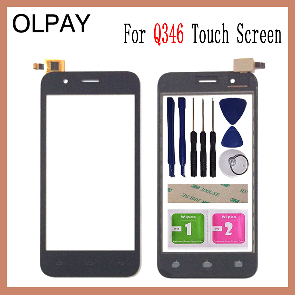 OLPAY 4.5For Micromax Bolt Q346 Q 346 Touch Screen Digitizer Panel Front Outer Front Glass Lens Sensor Free Adhesive+WipesOLPAY 4.5For Micromax Bolt Q346 Q 346 Touch Screen Digitizer Panel Front Outer Front Glass Lens Sensor Free Adhesive+Wipes