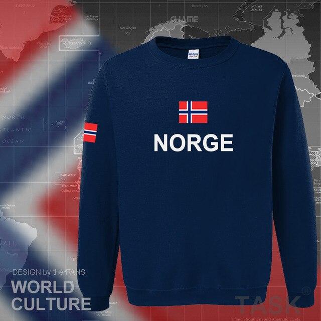 Norway hoodies men sweatshirt sweat new hip hop streetwear footballes jerseyes tracksuit nation Norwegian flag NO Norge Noreg 2