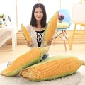 1pc Big Size Kawaii 50cm&75cm Simulation Corn Cushion Pillow Rod Bean Plush Toys Corn Doll Small Stuffed Dollspillow Gift For Ki