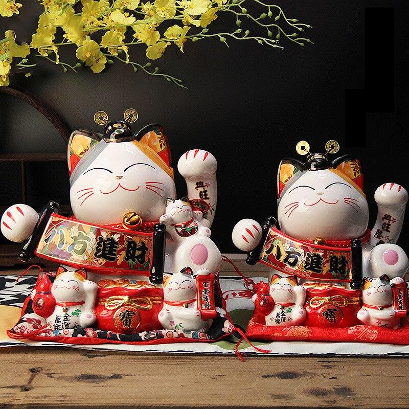 Creative Big Lucky Cat tirelire artisanat mignon banque de pièces Miniatures enfants jouet maison caisse comptoir décor accessoires cadeau d'anniversaire - 5