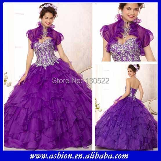 QD-198 latest design corset top puffy skirt purple ball gown wedding dresses beading prom dress - Suzhou Ashion Garment Co., Ltd store
