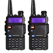 2Pcs BaoFeng UV 5R 5W Dual Band VHF UHF Handheld Two Way Radio CB font b