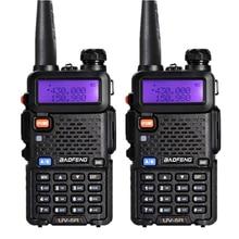 2Pcs BaoFeng UV-5R 5W Dual Band VHF/UHF Handheld Two Way Radio CB Walkie Talkie Ham Radio Communicator Transceiver