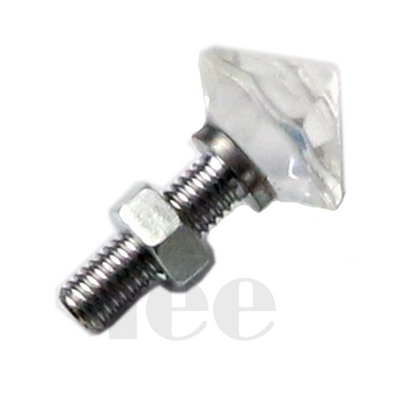 Fiber Optic Light Crystal End Fittings With Metal Fittings Fiber Optic Star Fittings For Shinning Ceiling Starry Sky Effect