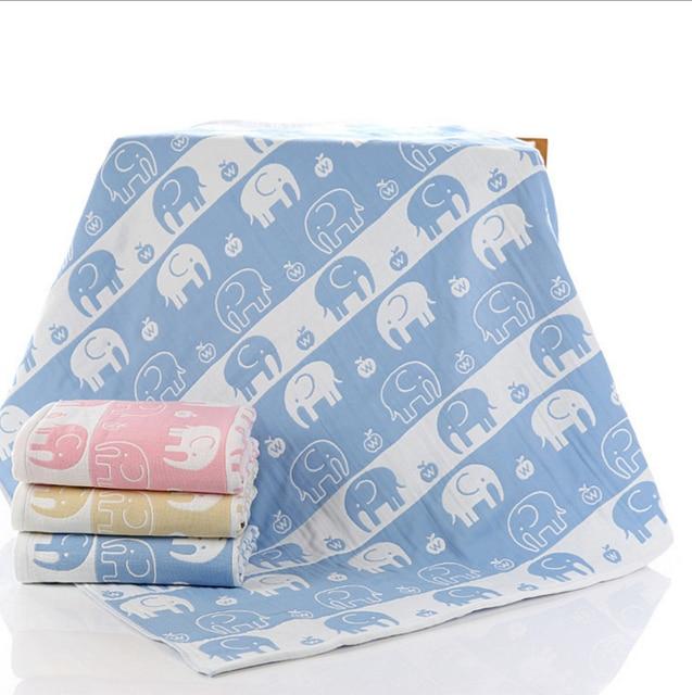 Baby Muslin Blankets Cotton Bebe Gauze Bedding Swaddle Kids Girls Cobetors Large 4Layers Newborn Carseat Cover