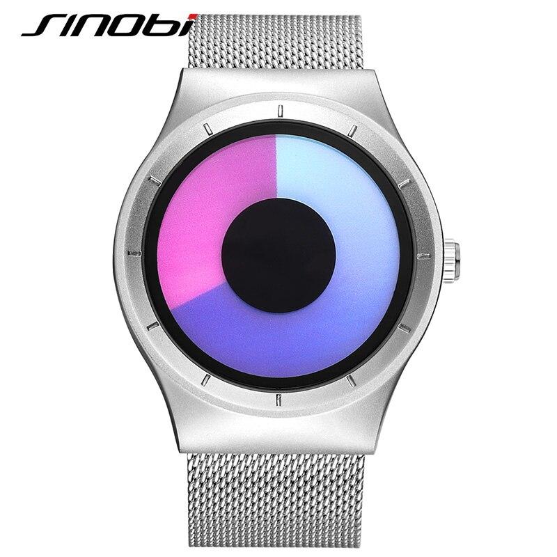 SINOBI Fashion Unisex Wrist Watches Top Luxury Brand Female Geneva Quartz Clock Ladies Wristwatch 2017 Erkek Kol Saatleri J77