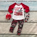 cotton Valentine's day boutique baby girls outfits kids clothing love Aztec suit heart cute mess top red matching accessories