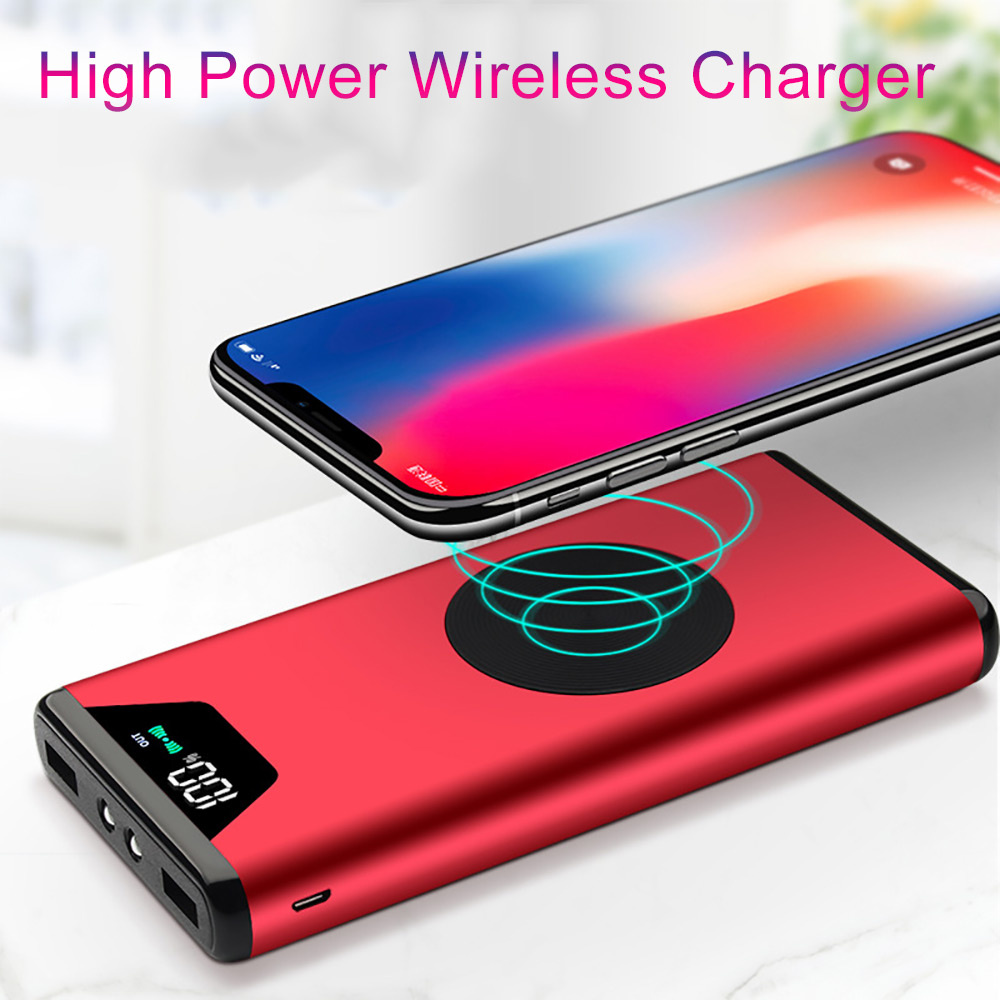 20000mah power bank external battery bank built in for Iphone x portable charger