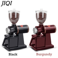 JIQI Electric Coffee grinder Coffee mill Bean grinder machine flat burrs Grinding machine 220V/110V Red/Black EU US