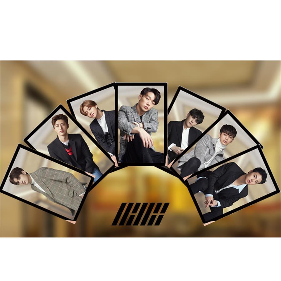 Kpop IKON PVC Clear Photo Card YunHyeong HD Photocard B.I BOBBY Collective Cards
