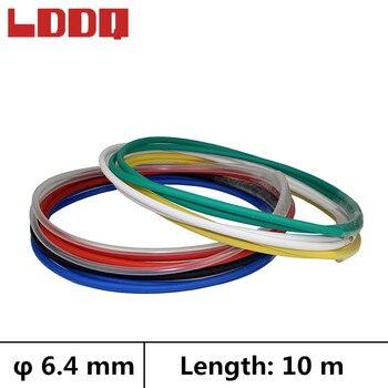 Tubo retráctil de calor LDDQ 10m con pegamento 3:1 Dia 6,4mm envoltura de Cable termo retractil makaron kablo