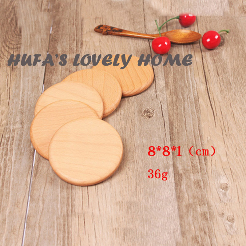 1 or 5 Pcs Wood Coasters Cup Bowl Pad Mat Coffee Tea Cup Pads&Mats Teapot Drink Coasters, drink waterproof and anti-slid
