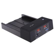 2.5″/3.5″ USB 3.0 HDD SSD Enclosure Box SATA Horizontal Hard Drive Disk Dock Station Case Caddy for Notebook Desktop PC Black