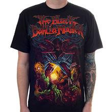 Аутентичная футболка с героями мультфильма «Чёрная георгина», катакомб, S-3XL, новая хлопковая футболка, модная футболка, топ, футболка размера плюс