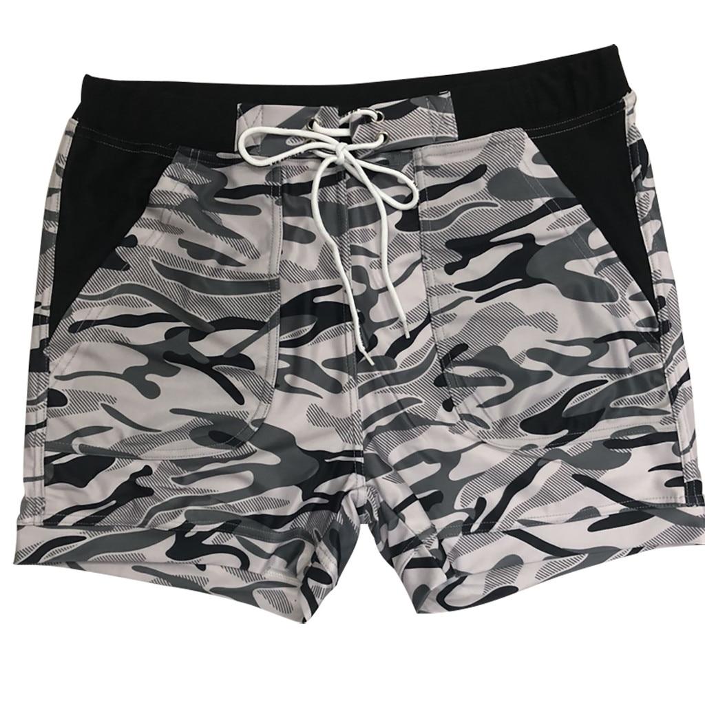 Men Shorts Swimwear Swimming Trunks Underwear Running Boxer Briefs Pants